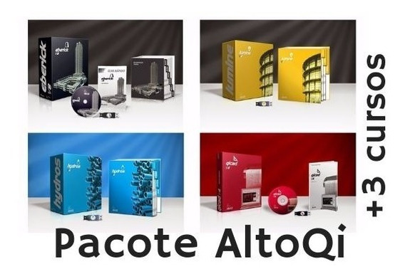 Pct. Eberick V8 + Lumine V4 + Hydros V4 + Qicad V4 + Cursos