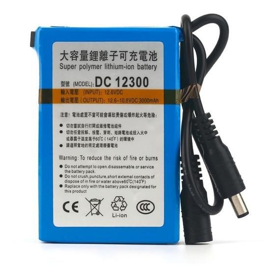 Bateria Recarregável 12v 3000 Mah Lithium