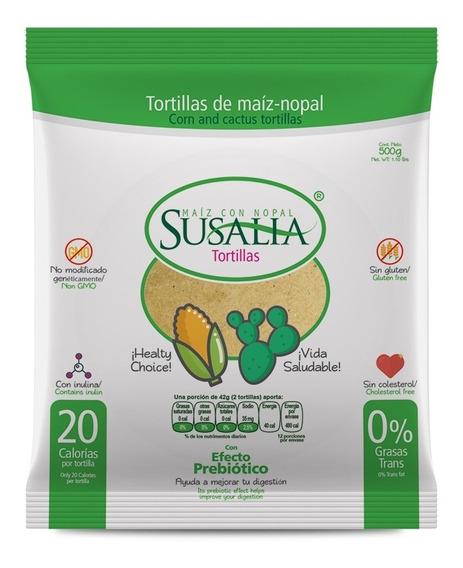 Tortillas Susalia 500gr Caja De 12 Pzas