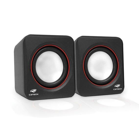 Caixa De Som C3tech 2.0 Portátil 3w Rms Preta Sp-301bk