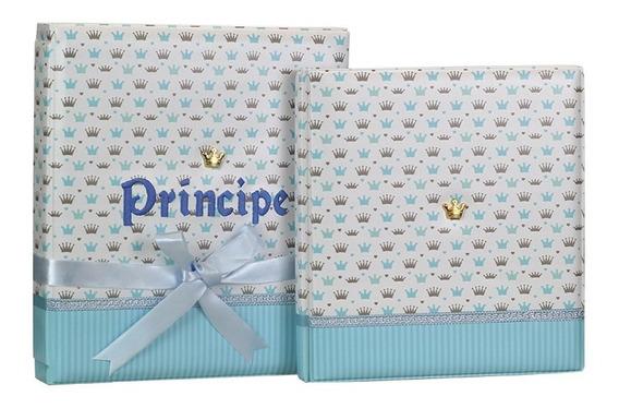 Álbum De Fotos 15x21 Diário Do Bebê Príncipe - 164910
