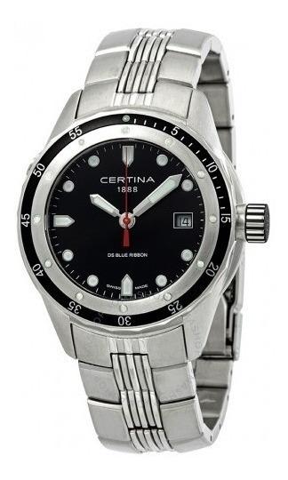 Relógio Suíço Certina Blue Ribbon Preto/aço/prata Diver 330