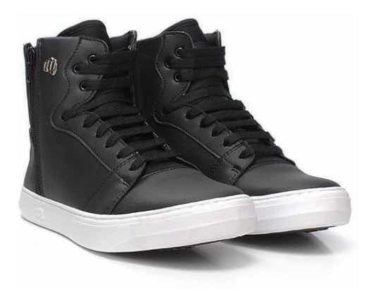 Tênis Sneaker Hardcore Footwear Botinha Academia Couro Fit