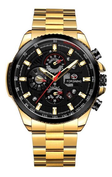 Reloj Hombre Forsining Automático Acero Inox Sumergible 30m