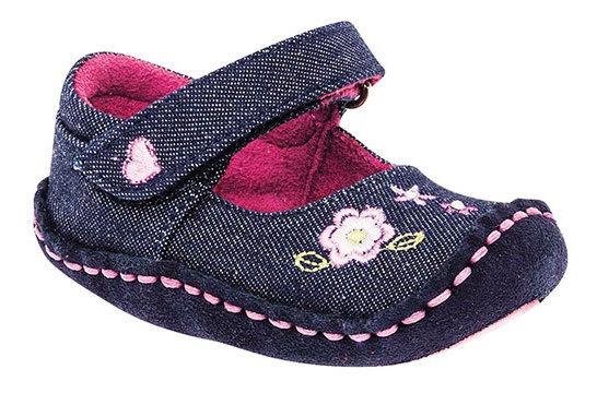 Zapato Bebe Niña Pk 62270 Ensueño Mezclilla
