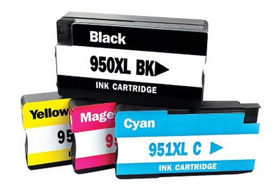 Kit 4 Cartuchos 950xl 951xl Pro 8100 Pro 8600 Novo Compat