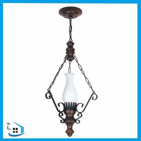 Luminária Lustre Rústico Envelhecido 1 Lâmpada Muller 801e