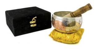 Cuenco Tibetano Mediano 3 Metales En Caja 11 Cm