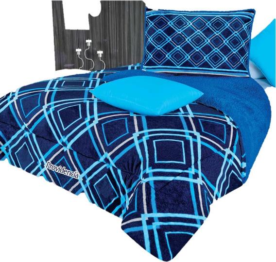 Cobertor Matrimonial Providencia Ontario Con Borrega