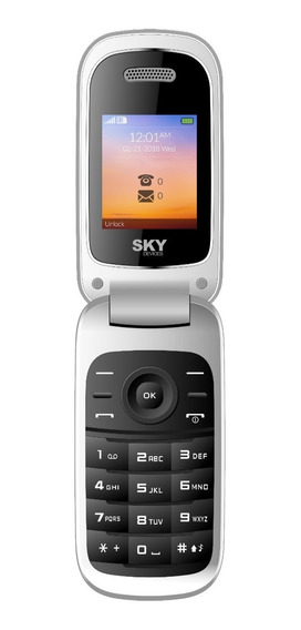 Celular Libre Barato Dual Sim Sky Flip2 Teclas Grande Tapita