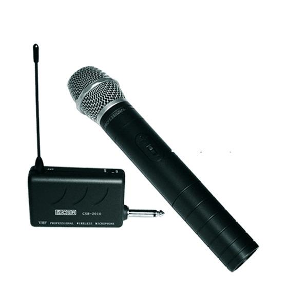 Microfone Sem Fio Csr 2010 Vhf P/ Filmadora Adap P10 X P2
