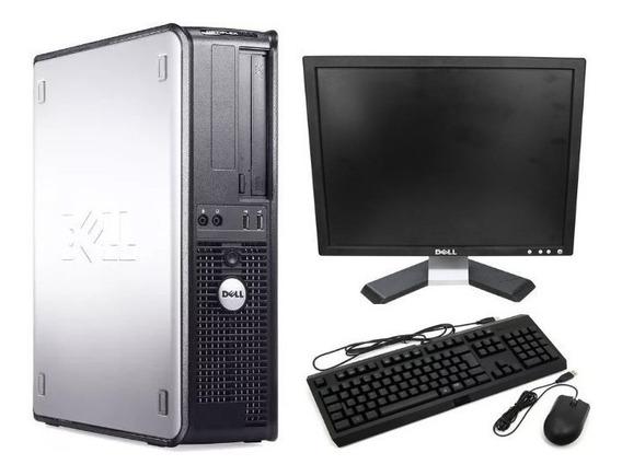 Cpu Completa Dell Core 2 Duo E8400 4gb Ssd120 + Monitor 17