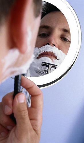 Espejo Doble Aumento 3x Afeitado  Perfecto Con Lupa Zoom