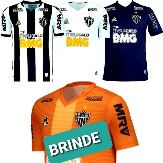 Kit 3 Camisas Do Atlético Mineiro- Leve 1 De Treino Brinde .