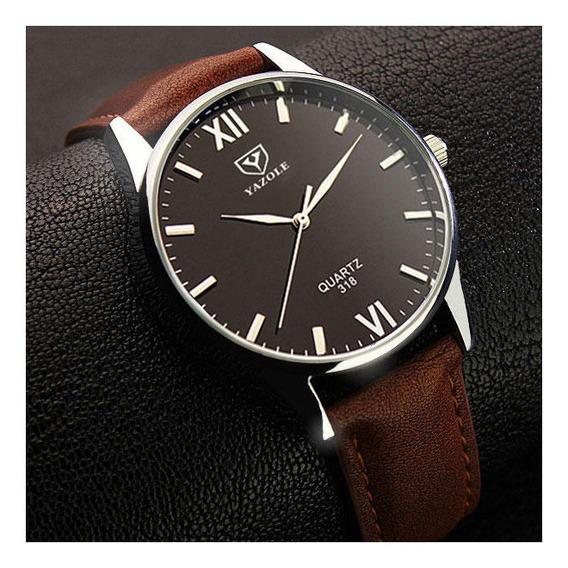 Relógio Yazole 318 Quartzo Masculino Original Estilo Retro