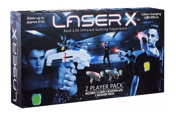 Jogo De Combate Arma Laser X Dupla Blaster Com Colete Sunny