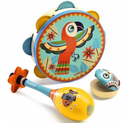 Instrumentos Musicales Djeco Niños Set 3 Cadaques Kids