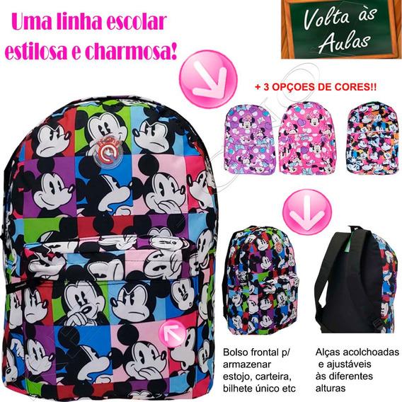 Mochila Da Minnie Escolar Infantil 01819xfp + Frete Grátis