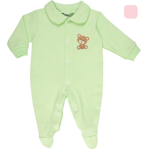 Roupa Bebê Menino Menina Macaquinho De Ribana Canelada Rn