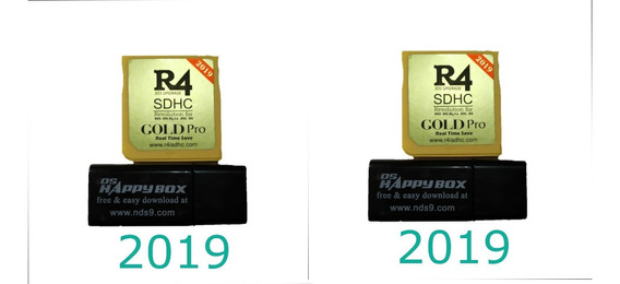 Kit 2 Cartões R4 Card Gold Sem Sd -3ds/ds/2ds Dsi