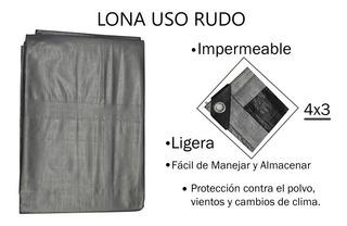 Lona Reforzada 4x3 Impermeable, Toldo, Cortina Etc.