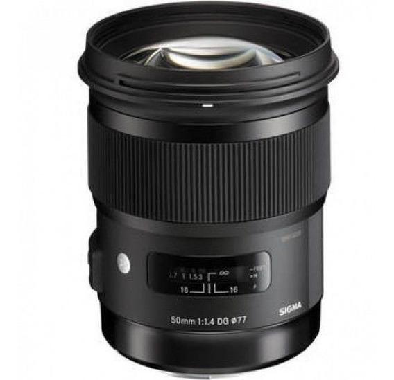 Lente Sigma 50mm F/1.4 Dg Hsm Art + Nf Para Canon