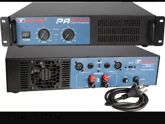 Amplificador De Potência New Vox Pá 2800-1400w Rms