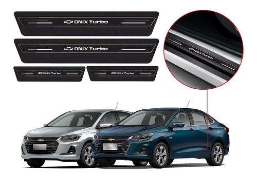 Soleira Protetor Porta Gm Onix Turbo 2020 2021 Sedan Hatch