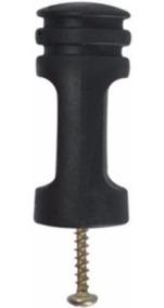 200 Isolador Para Haste Cerca Elétrica Cor Preto + Parafusos