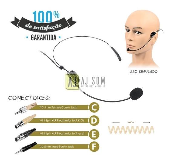 Microfone Headset C/fio,preto P/body Pack-karsect,csr,sony
