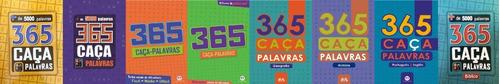 Kit De 8 Livros 365 Caça Palavras 2920 Desafios Inteligentes