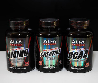 Bca De Alfa Sports + Mg + Strong Tienda Fisica * Lea *