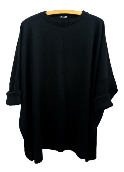 Sweater Ancho Lana Tejido Mujer Talle Grande Over Size Xxxl