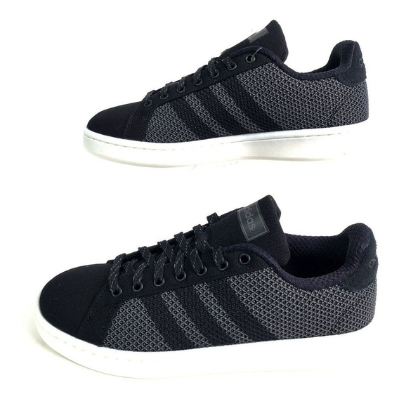 Tênis adidas Grand Court Têxtil Preto Masculino