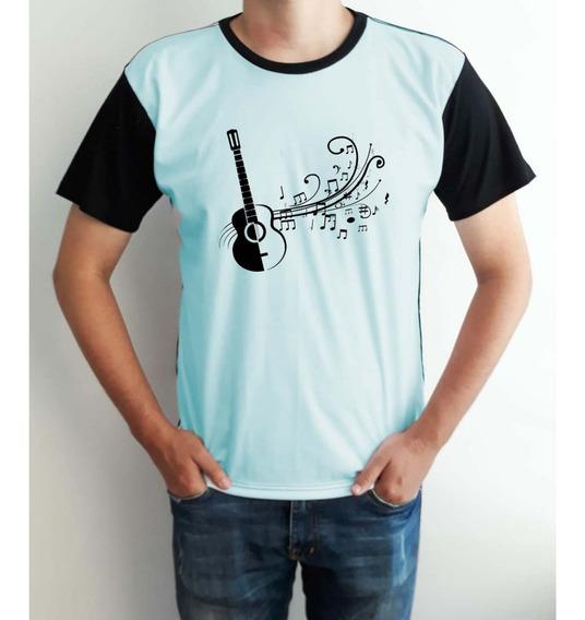 Camiseta Masculina Instrumentos Musicais Violão Musica