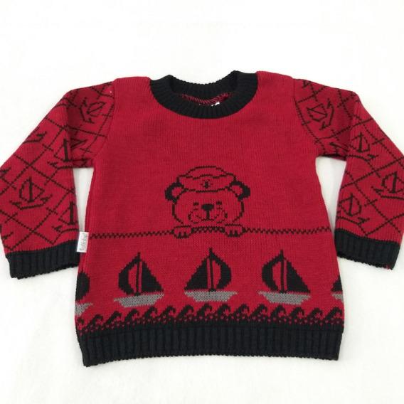 Blusa Tricot Infantil Estampada ( Sueter ) 1 2 3 - Fofinho