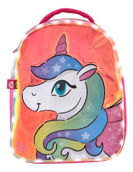 Mochila Footy Unicornio Con Luz Led 14