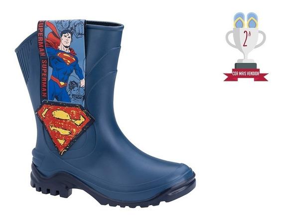 Bota Galocha Infantil Super Man - Azul. Ref. 21976