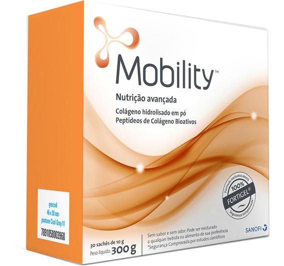 Mobility Colágeno Hidrolisado Em Pó C/ 30 Sachês De 10g Cada