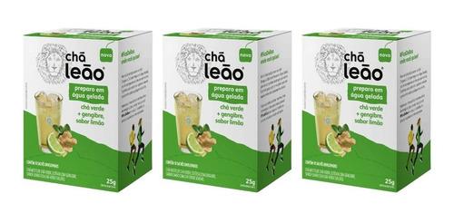 Imagem 1 de 1 de Leão Cold Brew Verde/geng/limão Chá Gelado  C/10 (kit C/03)