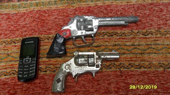 Lote 2 Antiguos Revolver Juguete Cebita England Y Usa