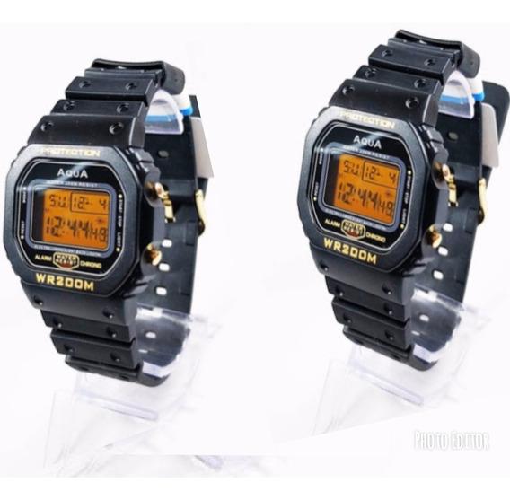 Kit 2 Relógios Masculino Gp 477 Digital Prova D