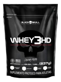 Whey Protein 3 Hd Black Skull Refil 837g - Original