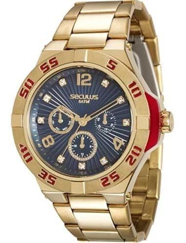 Relógio Seculus Masculino Dourado 28779lpsvds2