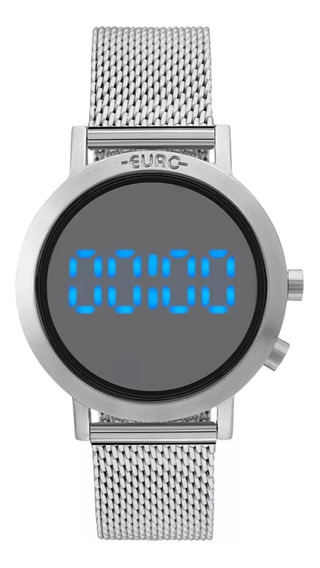 Relógio Feminino Euro Digital Prata Eubj3407ab/3p