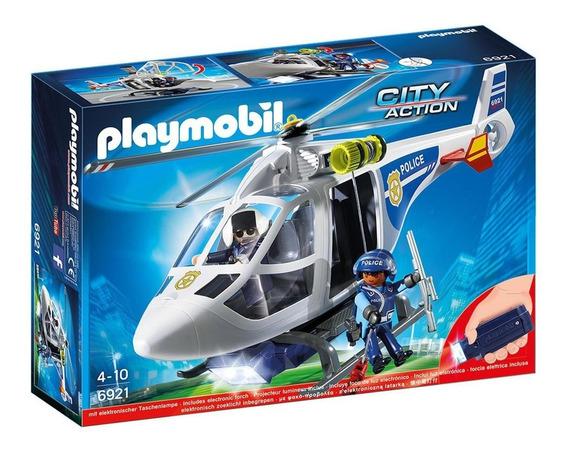 Playmobil City Action Helicoptero De Policia Con Luz 6921
