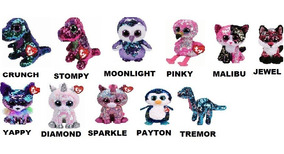 Beanie Boos Paetes Flippables Lantejoula 22cm Ty Dtc 5010
