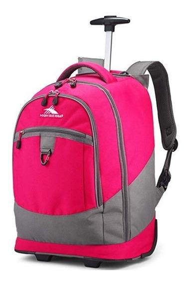 Mochila High Sierra Chaser De Ruedas Color Rosa Chicle