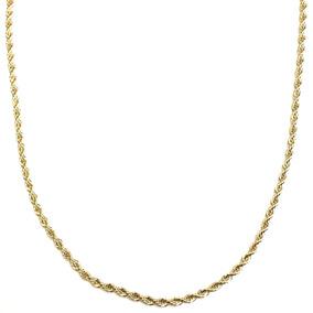 Corrente Colar Cordão Baiano Banhado A Ouro 18k 45cm