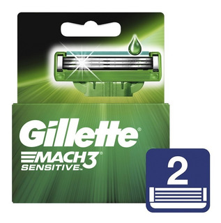 Gillette Mach 3 Sensitive Repuesto X 2 Unid. Blister